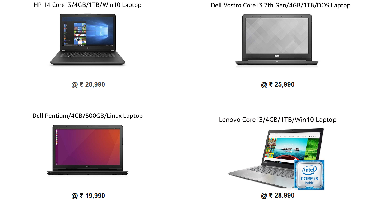 Amazon laptop Deals