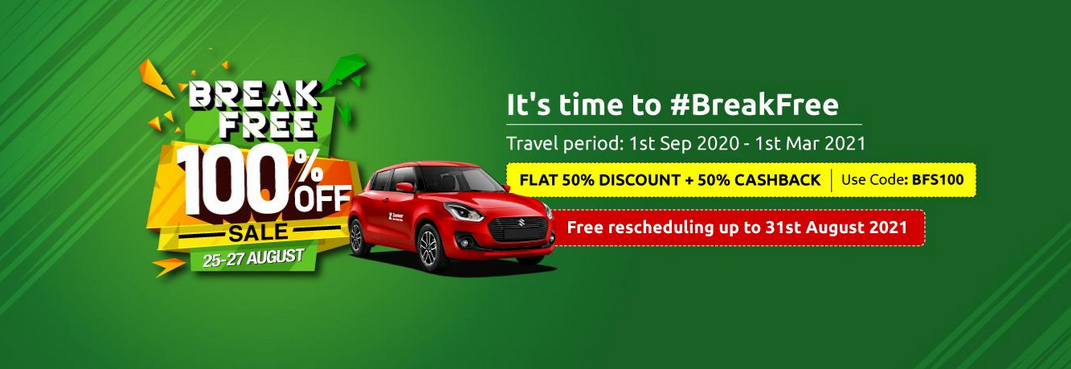 Zoomcar Break Free sale